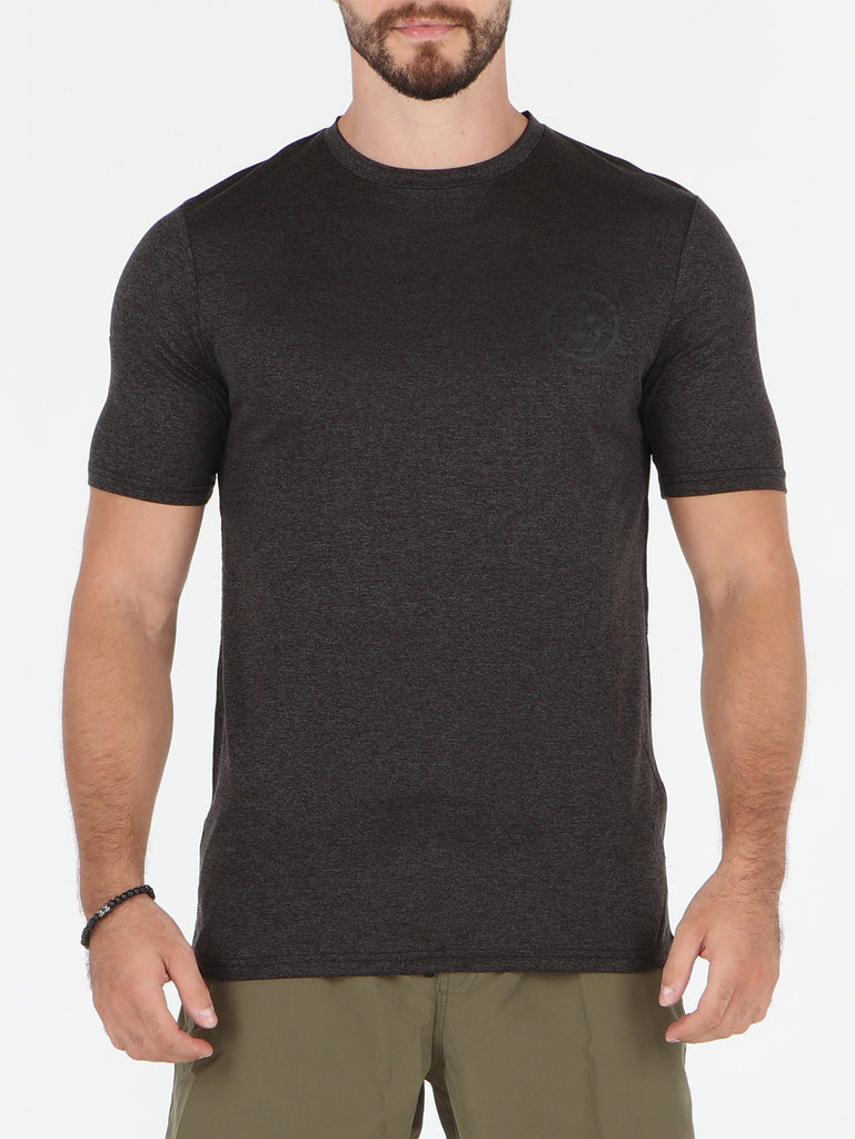 Lido Heather Short Sleeve Rashguard - Charcoal Heather