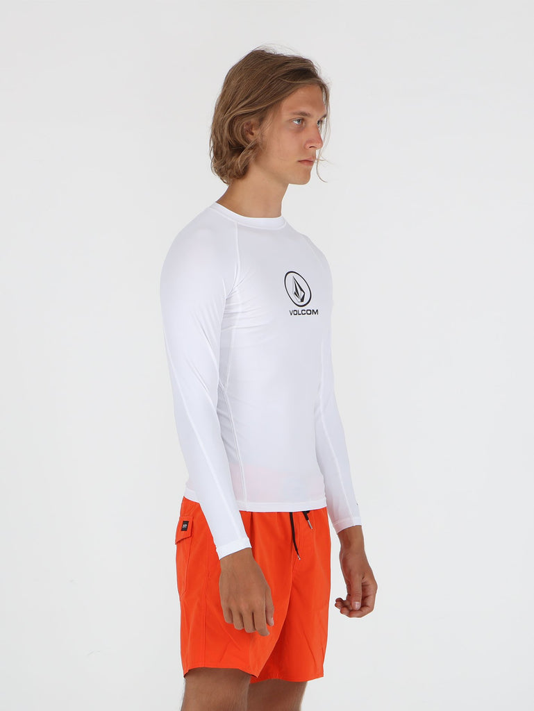 Lido Solid Long Sleeve Rashguard - White