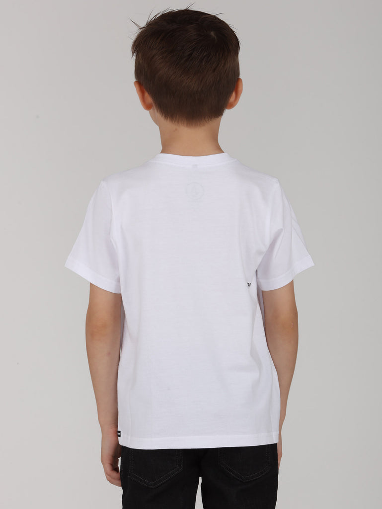 Little Boys Paix Tee - White