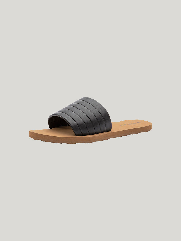 Puff Puff Give Sandals - Black