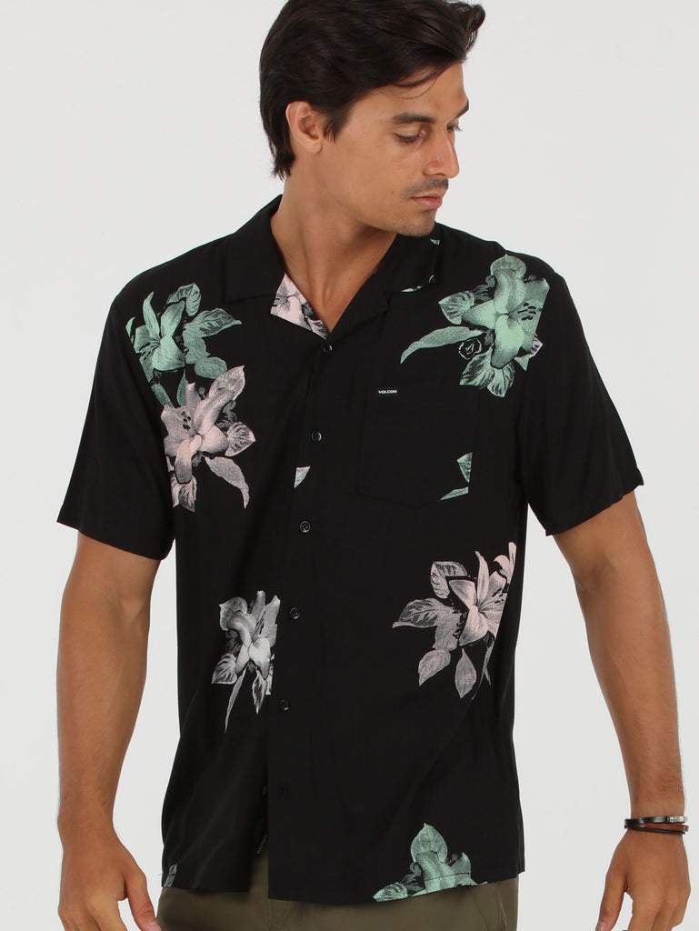 Richardt Short Sleeve Shirt - Black