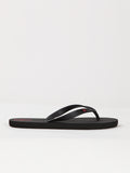 Rocker Solid Sandals - Black Red