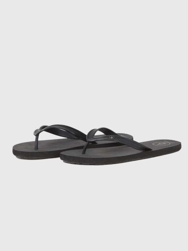 Rocker Solid Sandals - Black