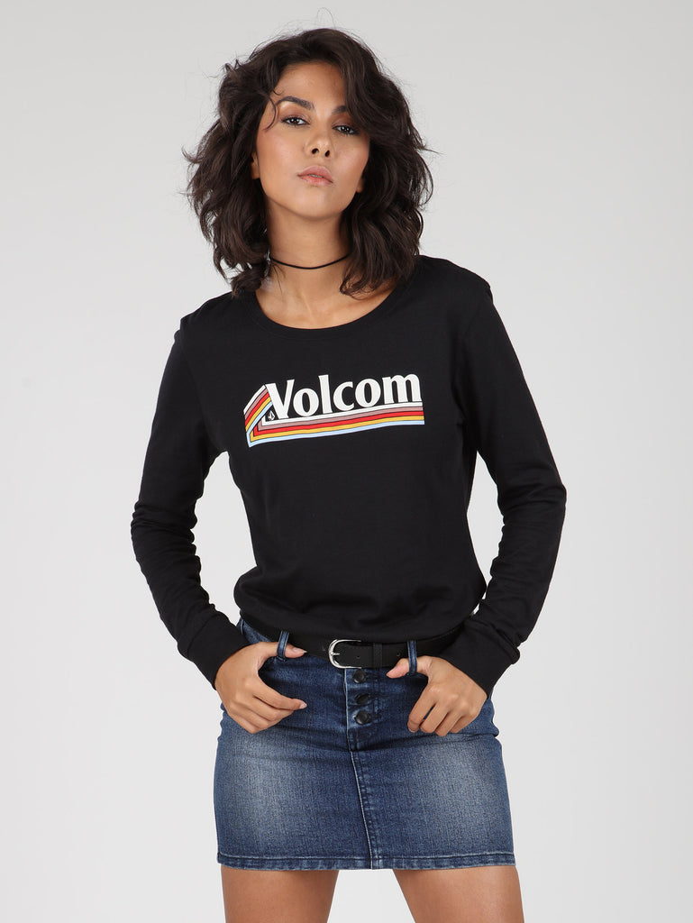 The Volcom Stones Long Sleeve Tee - Black