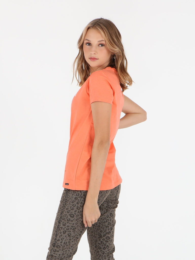 Chop Lop Tee - Coral Heather