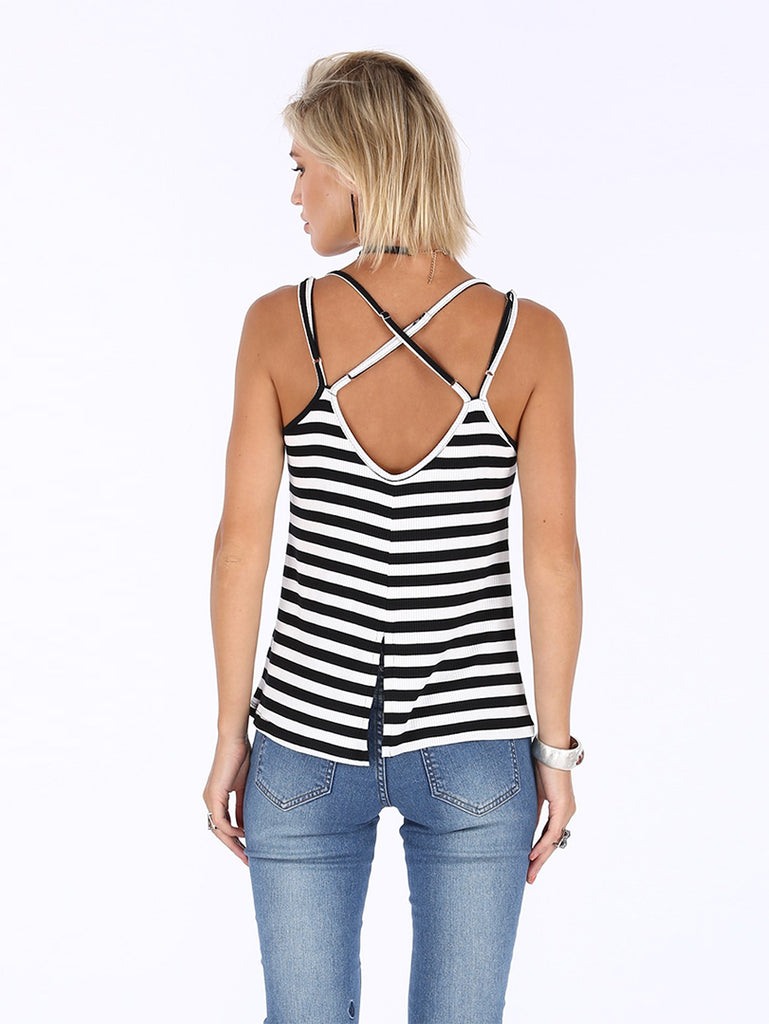 Colder Shoulder Tank - Black