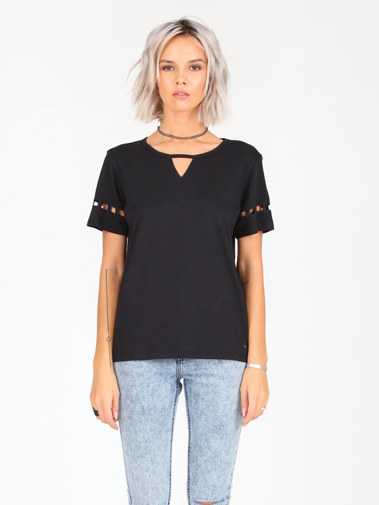 Gap Out Fashion Top - Black