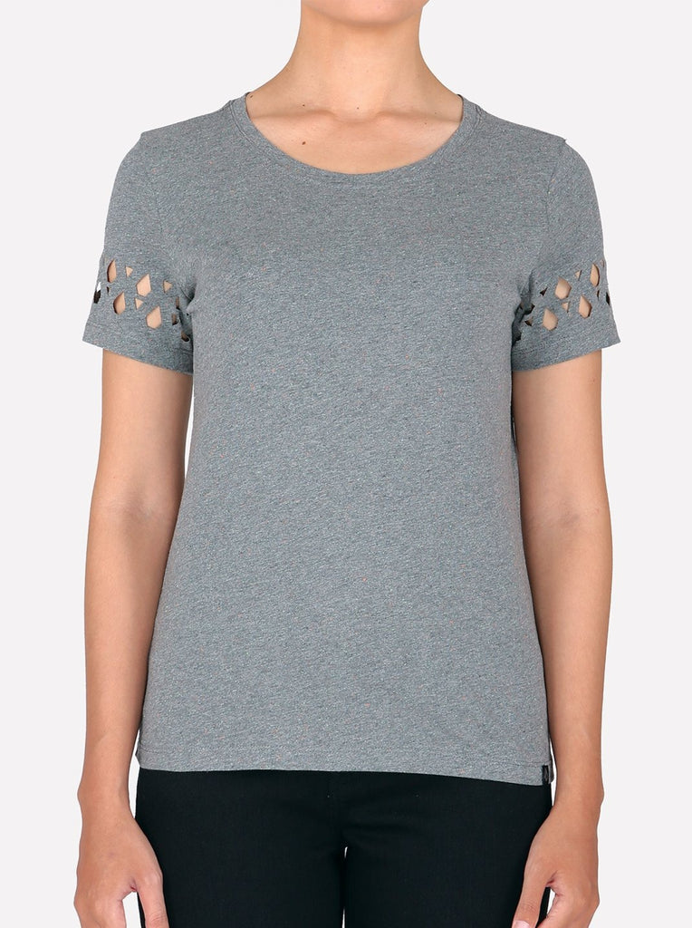 Hollow Me Fashion Top - Charcoal