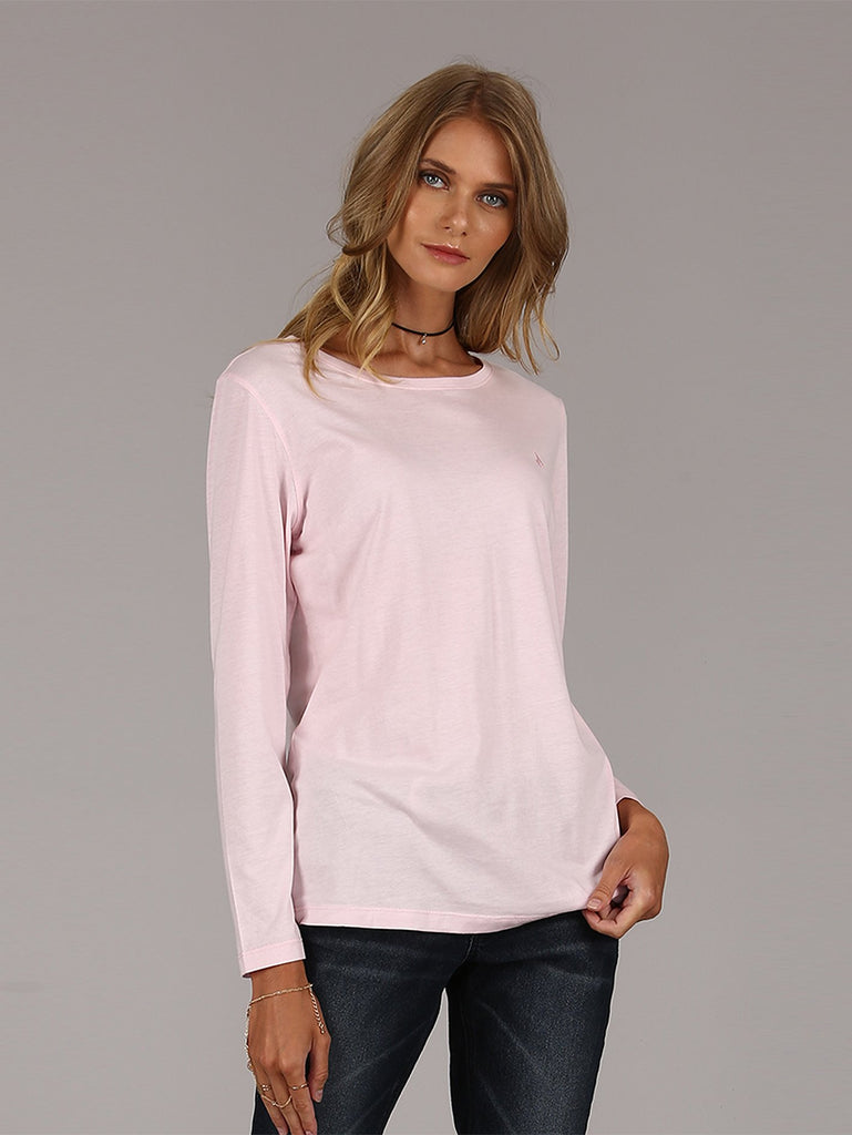 Layla Long Sleeve Top - Light Pink