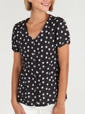 Momma Said Short Sleeve Top - Black Print