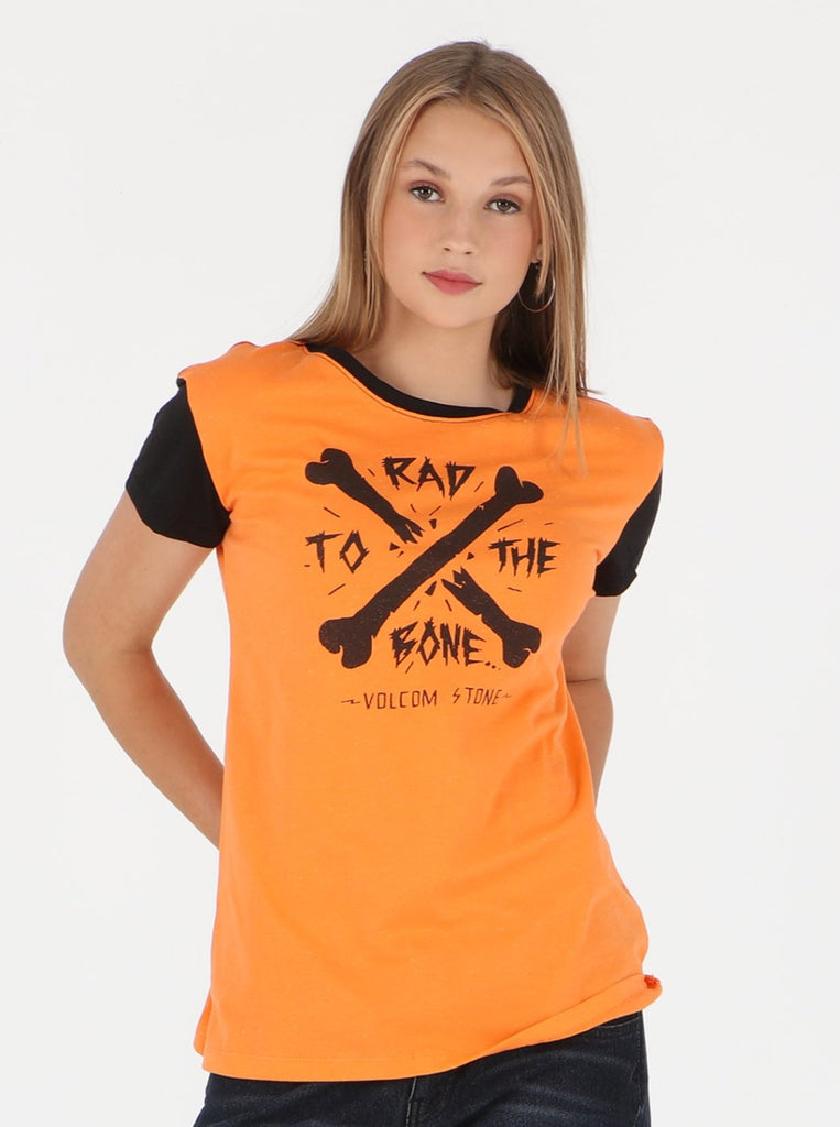 Rad To The Bone Tee - Orange