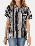 Shirt Stoned Short Sleeve Top - Black Combo
