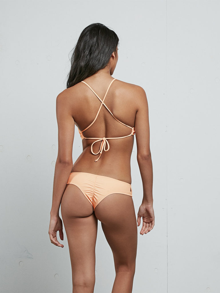 Simply Solid Cheeky Bikini Bottom - Pale Peach