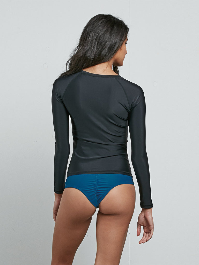 Simply Solid Long Sleeve Rashguard - Black