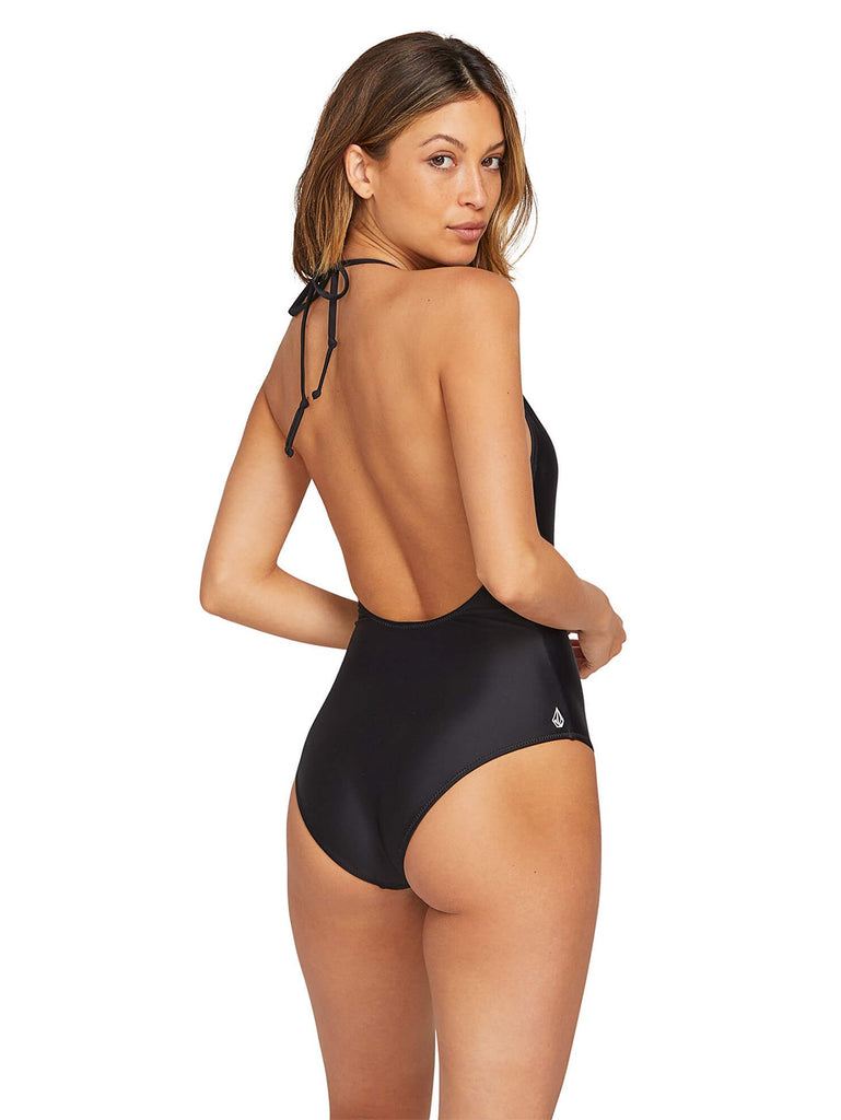 Simply Solid Onepiece 1 Piece Swimsuit - Black