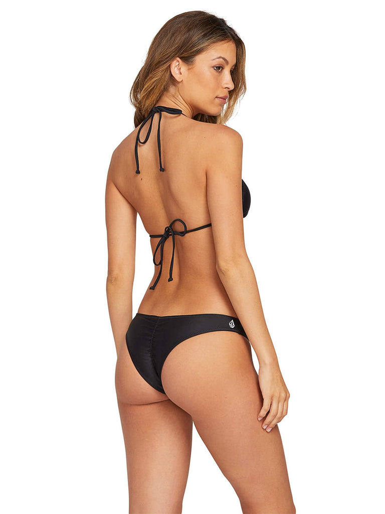 Simply Solid Triangle Bikini Top - Black