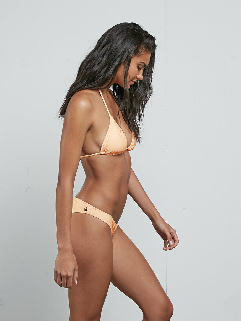 Simply Solid Triangle Bikini Top - Pale Peach
