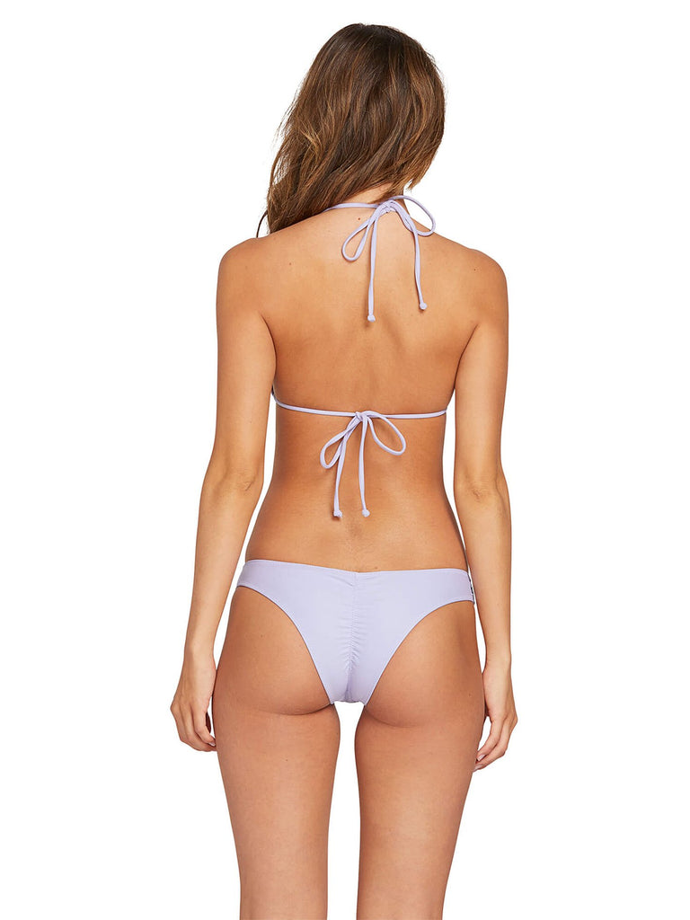 Simply Solid Triangle Bikini Top - Violet