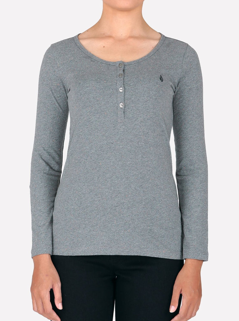 Solid Long Sleeve - Charcoal