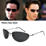 The Matrix Neo Style Polarized Sunglasses - Ultralight Rimless - UV 400 - Polarized