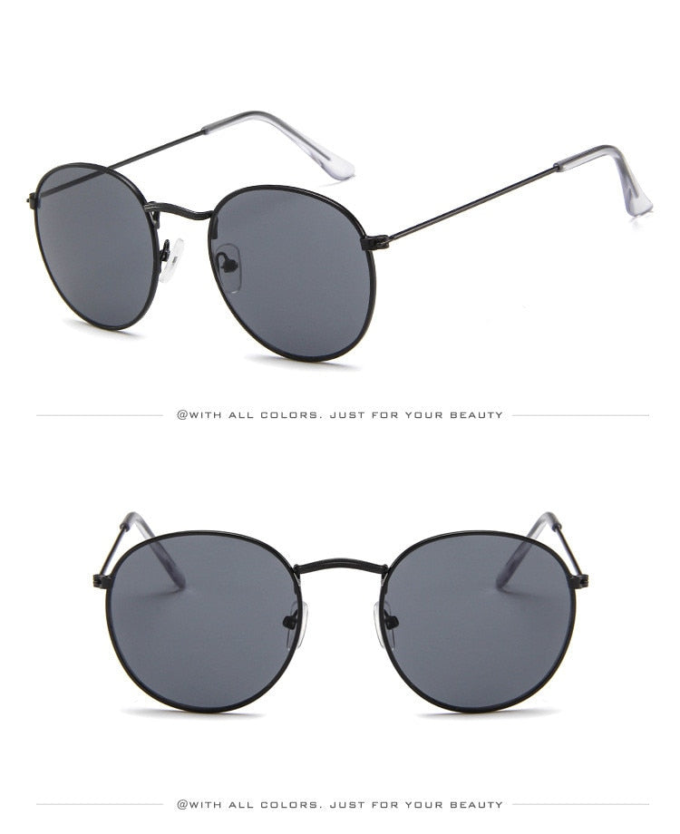 Luxury Mirror Sunglasses - Classic Round  - UV400