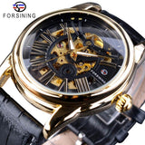 Exclusive Sale Fashion Design Leather Belt, Roman Modern Design Mens Automatic Skeleton Watch