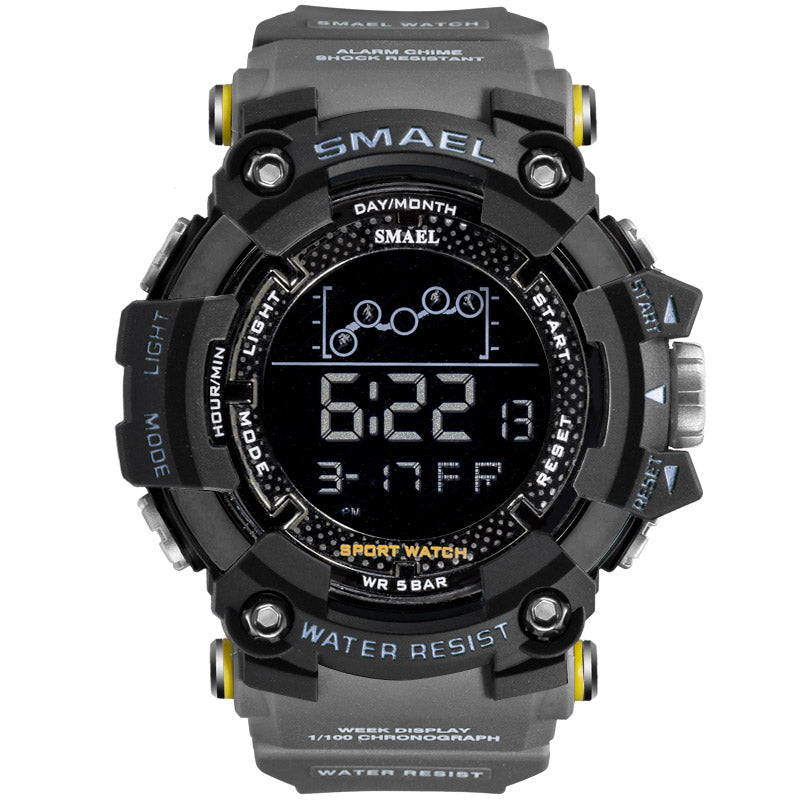 Mens Military Water resistant SMAEL Sport watch - Led Digital - 5Bar Water Resistant
