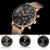 2018 Mens Watches Top Brand Luxury LIGE Men's Casual Fashion Quartz Watch Men Stainless Steel Waterproof Watch Relogio Masculino