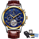 LIGE Mens Luxury Automatic Mechanical Watch