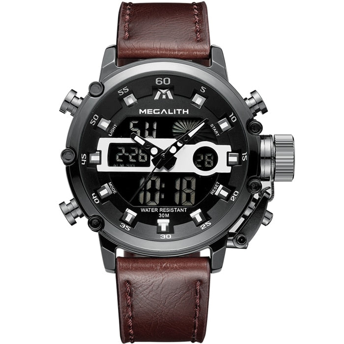 MEGALITH Men Sports Luminous Waterproof Quartz Watch Men Multifunction - Chronograph
