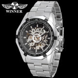 Forsining Men Watch Top Brand Luxury Men's Full Golden Mechanical Skeleton Watch Men Sport Watch Designer Fashion Casual Clock