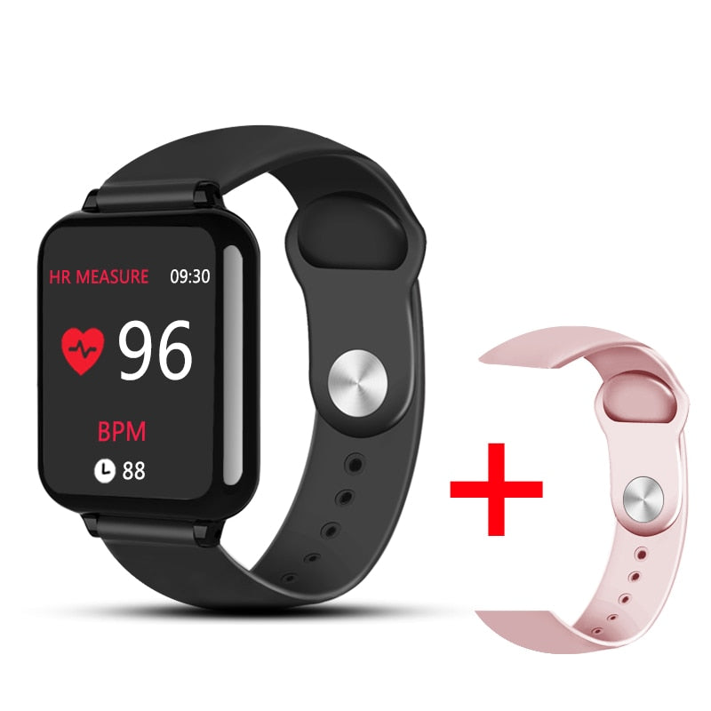 B57 Water Proof Smart Watch -  Adult and Children - Unisex - IOS and Android OS suitable - Time Display - Passometer - Sleep Tracker -  Heart Rate Tracker - Remote Control - Message Reminder - Call Reminder