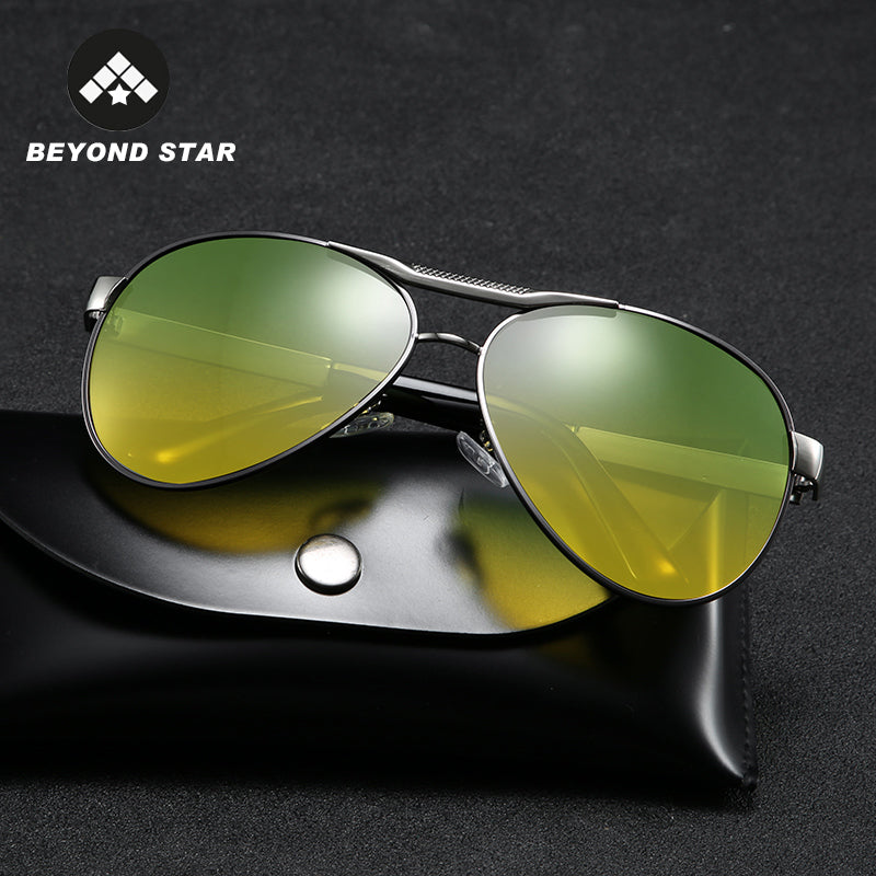 Retro, Polarised, Pilot night vision driving Sunglasses