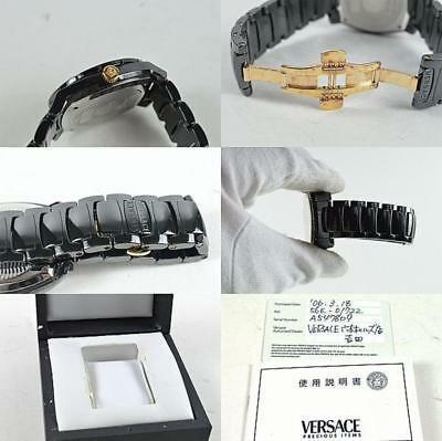 VERSACE DV1 Diamond Men's Watch 40mm 100% Authentic From JAPAN