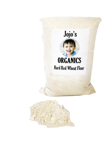 Freshly Milled Organic Hard Red Wheat Flour