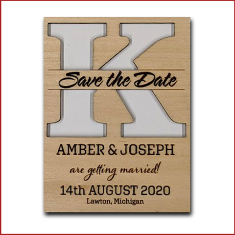 Save the Date - Cut Split Letter