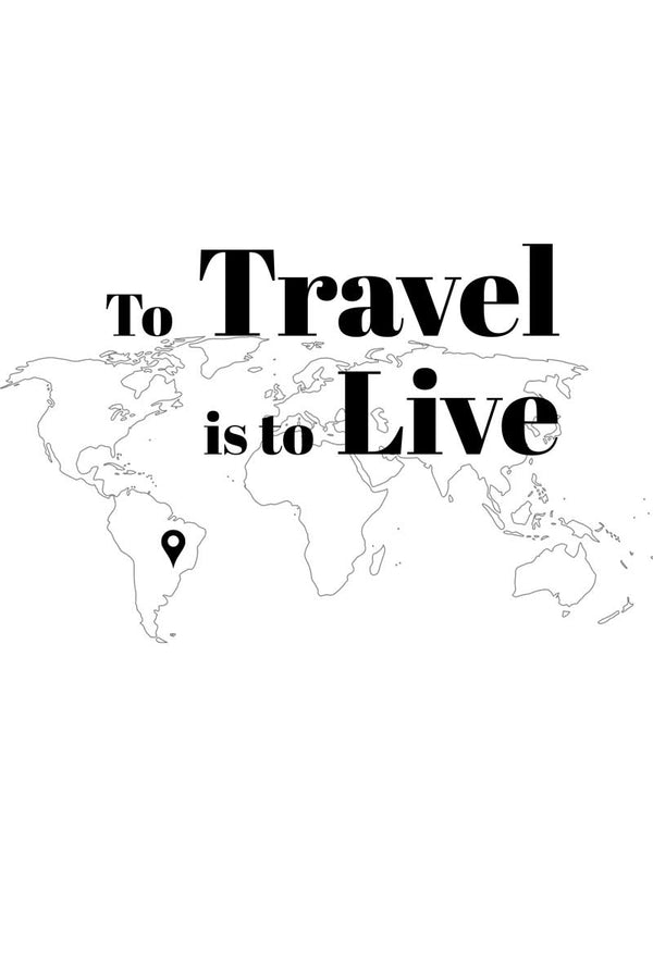 Camiseta To Travel is To Live Feminina