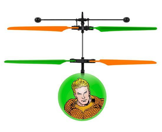 DC Justice League Aquaman IR UFO Ball Helicopter Heliball World Tech Toys