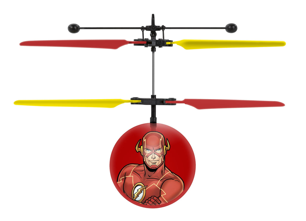 DC Justice League Flash IR UFO Ball Helicopter Heliball World Tech Toys