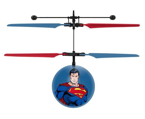DC Justice League Superman IR UFO Ball Helicopter Heliball World Tech Toys