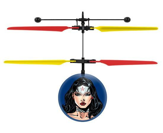 DC Justice League Wonder Woman IR UFO Ball Helicopter Heliball World Tech Toys