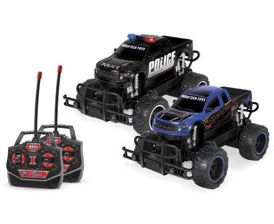 Ford F-150 SVT Raptor Police Pursuit 1:24 RTR Electric RC Monster Truck Double Pack RC-Trucks World Tech Toys