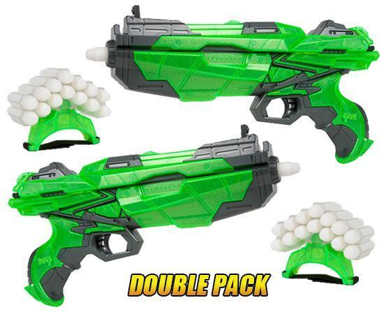 Havoc Glow-In-The-Dark Dart Blaster 2 Pack - World Tech Warrior Toys World Tech Toys