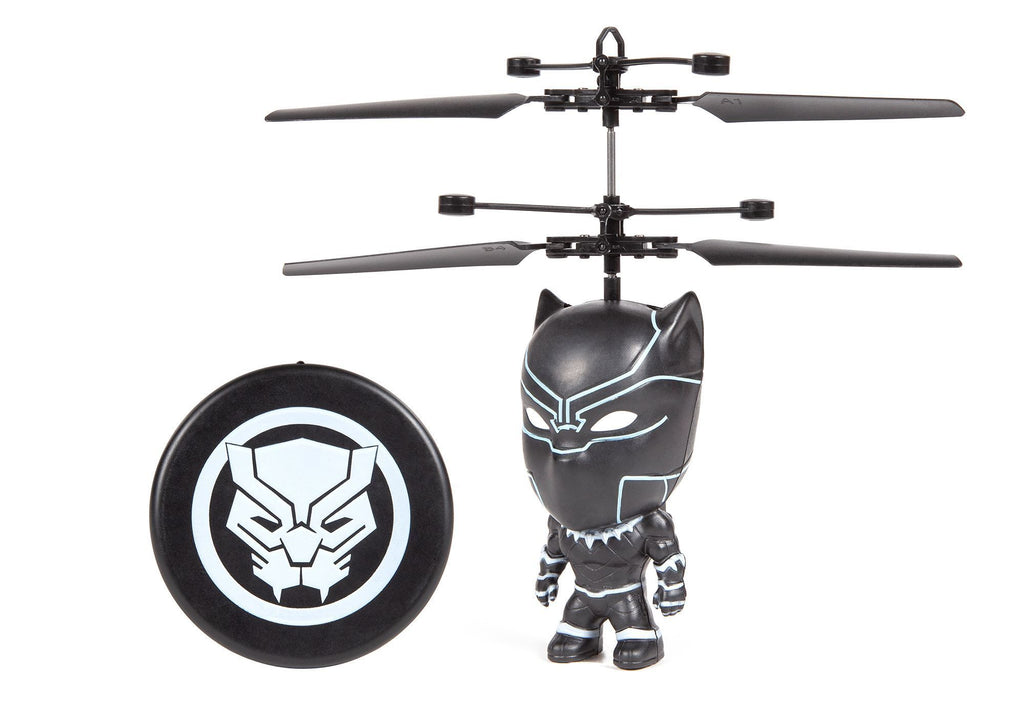 Marvel 3.5 Inch Black Panther Flying Figure IR UFO Big Head Helicopter RC-Helicopters World Tech Toys
