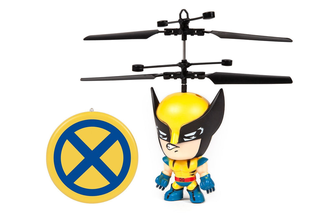 Marvel 3.5 Inch Wolverine Flying Figure IR UFO Big Head Helicopter RC-Helicopters World Tech Toys