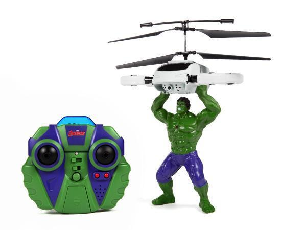 Marvel Licensed Avengers Hulk 2CH IR RC Helicopter RC-Helicopters World Tech Toys