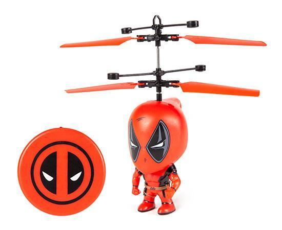 Marvel Licensed Deadpool 3.5 Inch Flying Figure IR UFO Big Head Helicopter Toys World Tech Toys