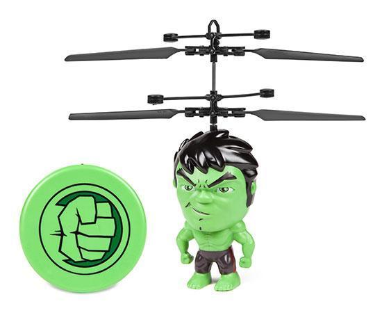 Marvel Licensed Hulk 3.5 Inch Flying Figure IR UFO Big Head Helicopter Toys World Tech Toys
