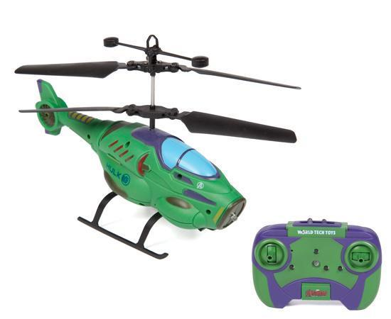 Marvel Licensed Hulk Herocopter 2CH IR RC Helicopter RC-Helicopters World Tech Toys