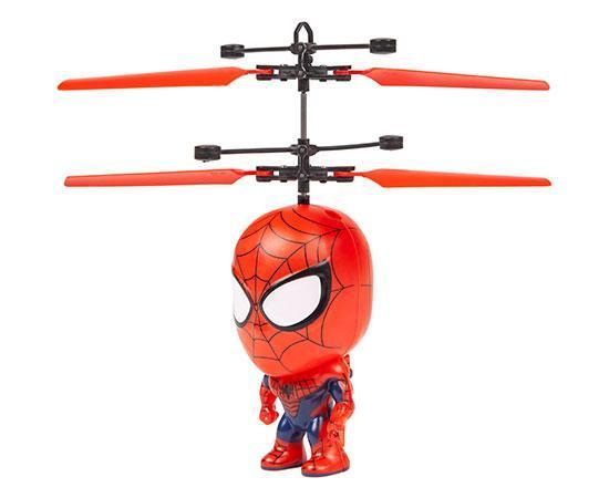 Marvel Licensed Spider-Man 3.5 Inch Flying Figure IR UFO Big Head Helicopter Toys World Tech Toys